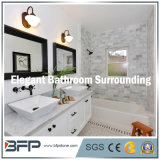 Natural piacevole Stone White Marble Wall/Floor Tile per Bathroom Surrounding