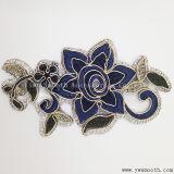 Form-Blumen-Stickereirhinestone-Eisen auf Änderung- am Objektprogrammkleid-Zubehör-Abzeichen