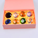 30mm Multi Color Crystal Glass Diamond di Paperweight, 8PCS/Set