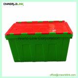 Fixe a tampa articulada, movendo e armazenamento de recipientes de plástico do pacote do Office