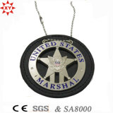 Custom кожаные и металлические полиции эмблему для нас