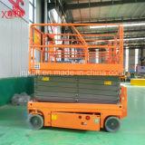 300kg de 6-12m China fabricantes Venta caliente hombre la tijera hidráulica Autopropulsada elevador eléctrico con Ce Certificación ISO