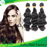 Волосы бразильской людской бразильской девственницы высокого качества естественные черные