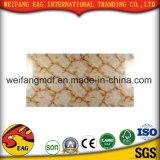 Marbre de PVC/feuille de marbre stratifiée par plastique pour le plafond, le mur et l'étage