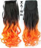 BlackおよびOrangeの長いNatural Wave Synthetic Hair Cosplay Holiday Wig