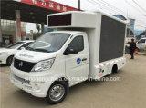 트럭을 광고하는 최신 판매 Changan 싸게 소형 자동차 LED 트럭 P8 두루말기