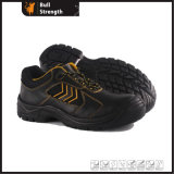 Sapatos industriais de segurança de couro com Toecap de aço (Sn5378)