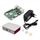 4 в 1 малины Pi 3 модели B+ (плюс) + АБС случае + 5V 3A ЕС штекер адаптера питания + комплект для теплоотвода