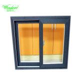 Único de vidrio revestimiento blanco barato de la ventana de aleación de aluminio