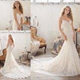 セクシーなレースの夕方のプロム党花嫁の服の婚礼衣裳(8112)
