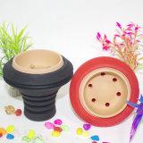 Tabaco Nargile Bowl Material de silicona conjunto Shisha Hookah Tazón Nargile Sisha cigarrillo electrónico del tubo de agua de cristal Cenicero narguile Shisha