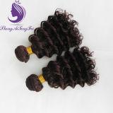 #4深い波状にRemyの人間の毛髪の編むこと