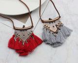 Etnische Halsbanden van de Tegenhanger van de Leeswijzer van de Ketting van het leer de Lange voor Vrouwen
