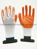 Для использования вне помещений нитриловые перчатки рабочие с покрытием