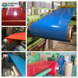 El material de construcción de la bobina de acero con recubrimiento de color