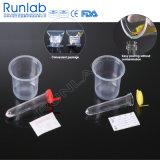 Conjunto de coleção de urina com tubo inferior redondo