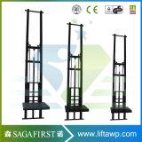 500kg 3m Vertical chaînes Rails guidée plate-forme élévatrice