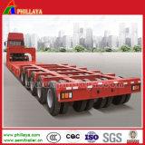 5 eixos 80toneladas Cama Baixa Lowbed transportes pesados Carreta