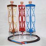 Трубы водопровода кальяна сплава цинка кальян Shisha Ashtray трубы водопровода куря трубы Shisha миниый электронный Cigarett материальной стеклянный стеклянный стеклянный