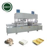 Hghy bandejas de comida de pasta de papel con tapa de la máquina