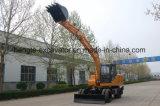 Excavadora de ruedas estándar de 12 toneladas de la cuchara con 0.6