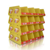 La navidad Multi-Faced Visualización de cartón corrugado, Papel cartón piso mostrar