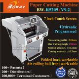 R5209 preço automático programado hidráulico industrial da máquina de estaca do cortador de papel do PLC da guilhotina 520mm