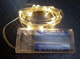Van de Elektrische LEIDENE van de Batterij van aa Koord 50LEDs 5m van de Lichten van de Fee Draad van het Koper het Zilveren voor het Huis Deco van het Festival