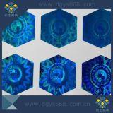 주문 모양 파란 색깔 Laser 스티커