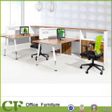 Estação de trabalho modular dos assentos da divisória 6 dos CF com gabinete móvel