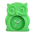 Creative Owl forme Décoration maison Twin Bell Muet des horloges d'alarme de bureau en silicone
