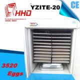 Grande incubadora automática da galinha de Capcity para 3500 ovos