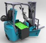 1.8 48Vフォークリフトの電動機を搭載するトン3の車輪電池のフォークリフト