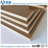 E0 de alta calidad pegamento papel de la melamina, madera contrachapada frente