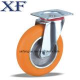 Industrielle Hochleistungsschwenker PU-Rad-Fußrolle
