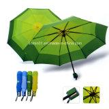サイズ130cmのゴム製ハンドルマニュアルの開いたまっすぐなゴルフ傘