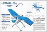 Silla paciente móvil de la unidad dental de la silla con el funcionamiento azul claro