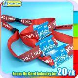 음악제 E 표 NTAG213 NFC Bracelet RFID에 의하여 길쌈되는 소맷동