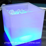 Nuevo cubo de hielo LED doble RGB de la capa de color cuadrado KTV cubo de hielo de cerveza