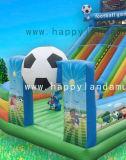 Надувные Combo футбола стиле замок с ударным Bouncer возврата