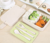 Инновационный продукт пшеницы волокна соломы обед в салоне 3 слоев обед ящики изолированный Bento ящики
