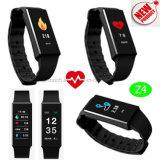 Wristband astuto della visualizzazione variopinta impermeabile con il video di frequenza cardiaca (Z4)