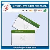IDENTIFICATION RF compatible blanche IC Smart Card de carte de PVC de 13.56 mégahertz