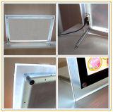 A4 Crystal Frame Slim Crystal LED Light Box pour Décoration
