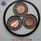 26/35kv resistente ao fogo Isolados em XLPE Cu/XLPE/Swa/PVC MV de núcleo único e cabo de alimentação