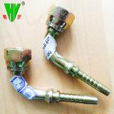 Montaggi di tubo flessibile pungenti disponibili forgiati di tubo flessibile del montaggio del filetto metrico di gomma unito idraulico di Bsp Jic