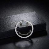 جذّابة ابتسام وجه نساء ثوب زركون اصطناعيّة مجوهرات معدنة دبوس الزينة
