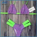 Spätestes reizvolles Mädchen-handgemachter Form-Bikini-Badebekleidungs-Badeanzug