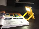 La parte superior del banco de Energía Solar 10000mAh Cargador Solar de 2 puertos USB Cargador externo Powerbank por teléfono con luz LED