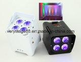 Het PARI van de Batterij van DJ van de vrijheid kan Uplight 4X18W RGBWA UV 6 in 1 Draadloze IRL LEIDENE van DMX Uplight